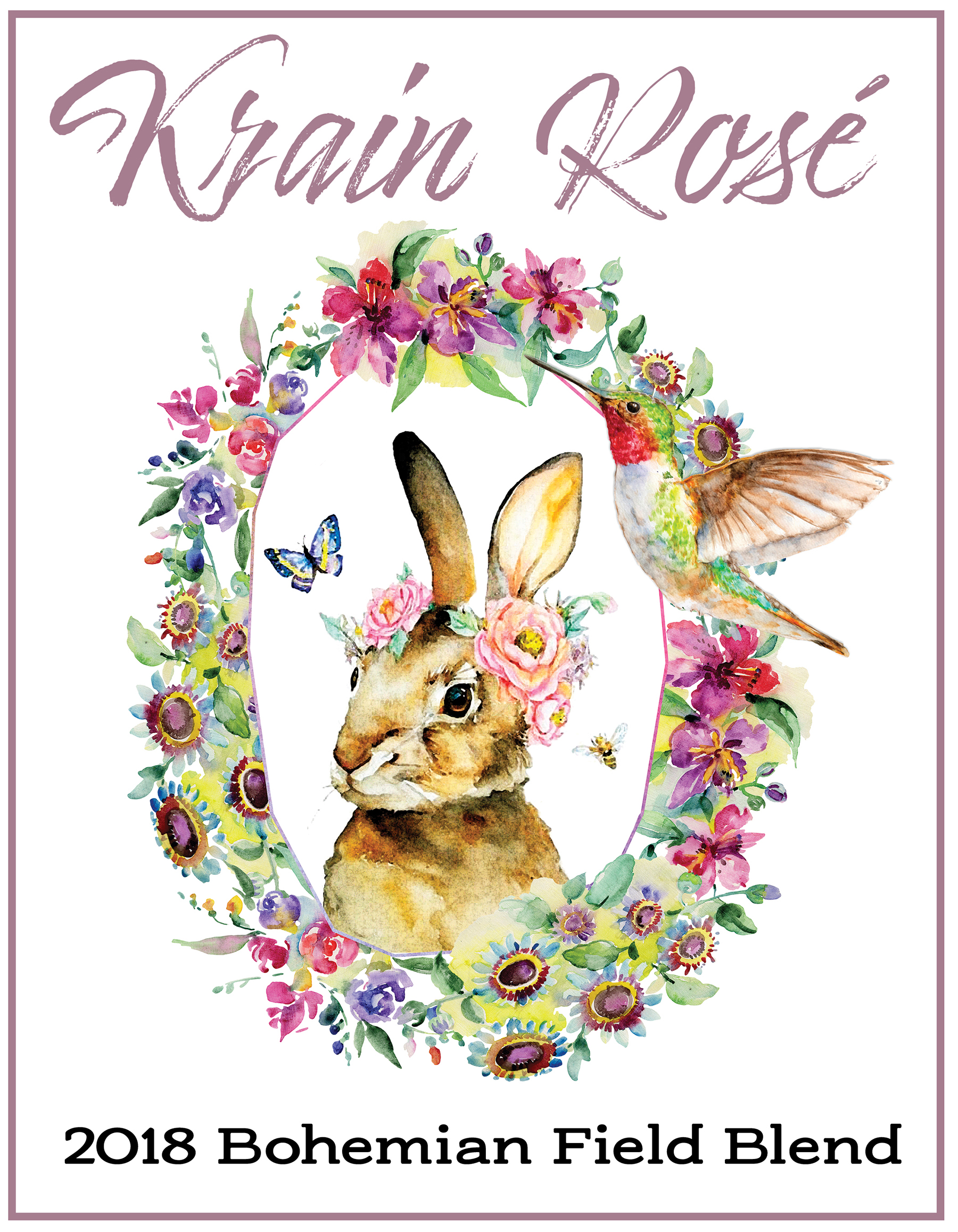 Krain Rose 2019 Label